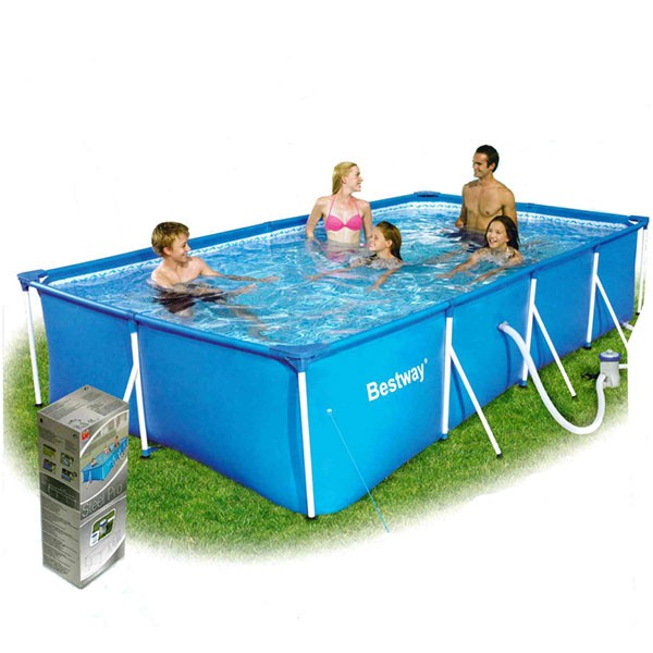 Easy-Pool 3,99 x 2,11 x 0,81mol, Frame-Pool-Set Rechteckpool