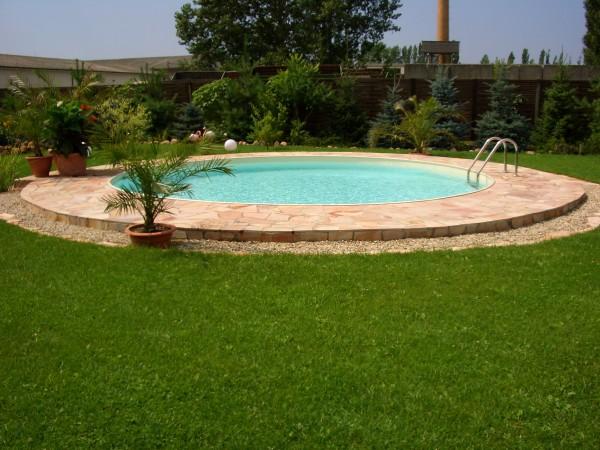 Sandfarbene Poolfolie 4,50-4,60 x 1,20m mit Biese