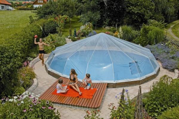 swimmingpool 3 60 x 1 20m inkl sonnendom f r. Black Bedroom Furniture Sets. Home Design Ideas