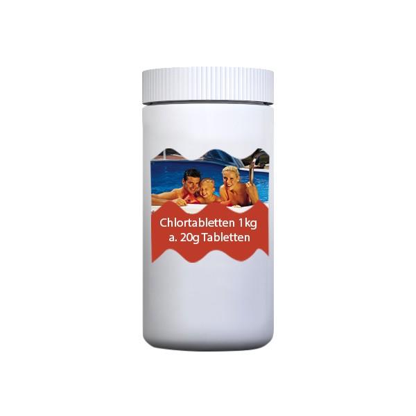 Chlortabletten org. 1 kg, 20g