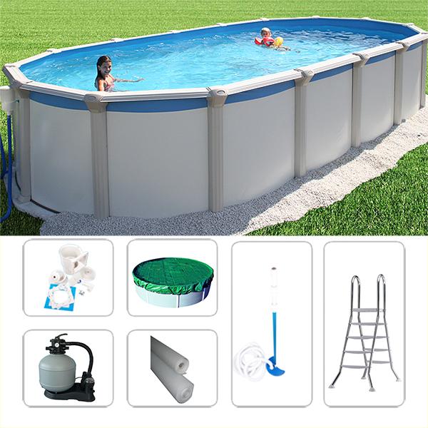 swimmingpool ovalpool set gigazon 7 20 x 3 60 x 1 32m f r. Black Bedroom Furniture Sets. Home Design Ideas