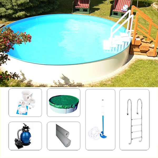 Gartenpool Rund-Set Fun-Zon 5,50 x 1,50m