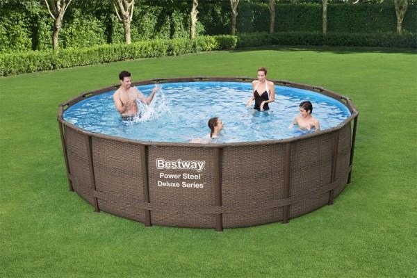 Frame Pool Steel Pro, Set Rattan 4,27x1,07m