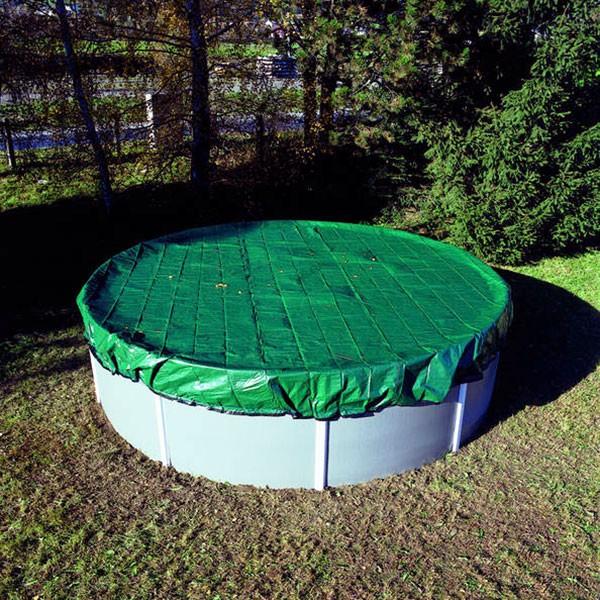 PE Pool-Abdeckplane rund für Pool 4,00