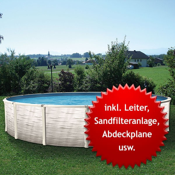 Swimmingpool Rundpool-Set Gigazon 4,50 x 1,32m
