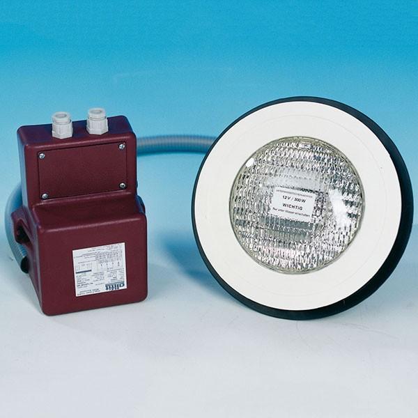 Unterwasserscheinwerfer 300 Watt inkl. Trafo 12 Volt