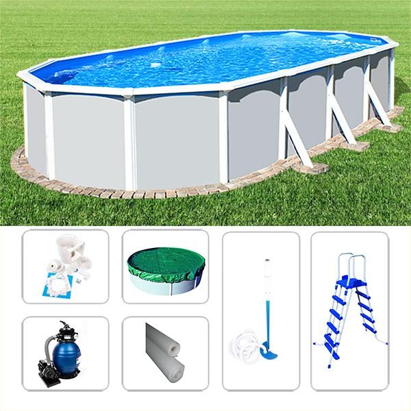 Schwimmbad Ovalpoolset Starzon 4,80 x 3,60 x 1,20m