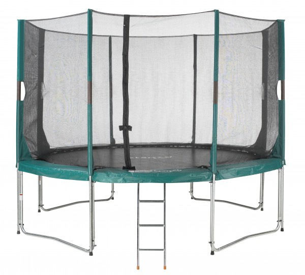 Hi-Flyer Gartentrampolin 4,30 m rund mit Netz und Leiter