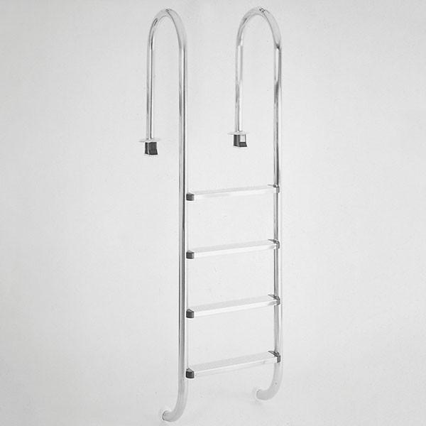 Schwimmbadleiter Poolleiter Edelstahl 4-stufig schmale Ausführung