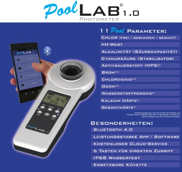elektronisches Pooltestgerät Pool Lab 1.0 Photometer