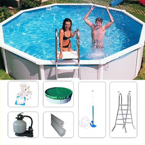 Rundpool-Set Schwimmbecken Megazon rund 5,40 x 1,32m