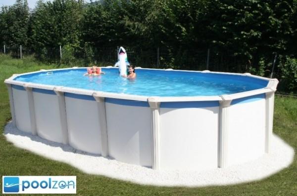 Pool Gigazon 5,40 x 3,60 x 1,32m mit edler 15cm breiten Handlauf