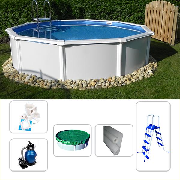 Schwimmbecken poolset starzon rund 5 40 x 1 20m for Gartenpool 1 20