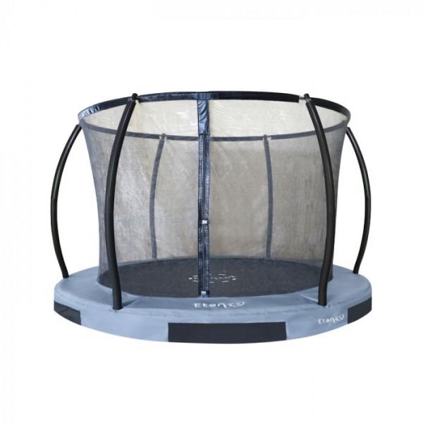 Etan Ingroundtrampolin Hi-Flyer mit Netz in Grau 244 cm